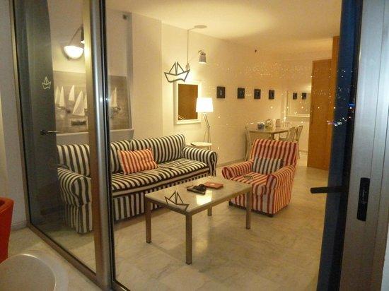 Marina Suites : Balcony Looking into Room
