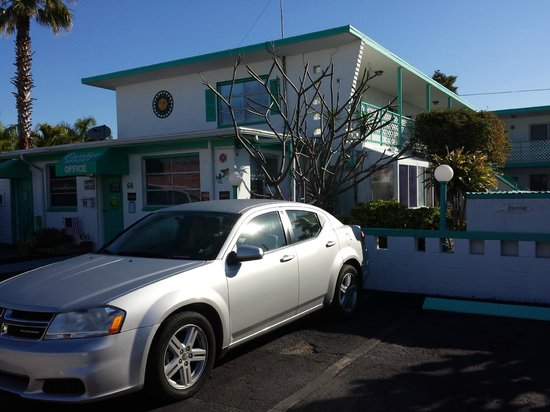 Cavalier Resort Motel: Our rental car parked out front...