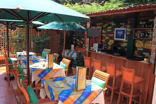 Papas y Camotes: Our Outdoor Dining Area