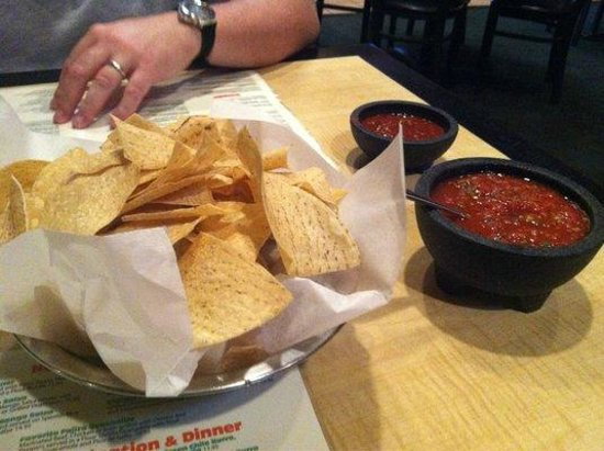 Carlos O'briens: Free chips and salsa.