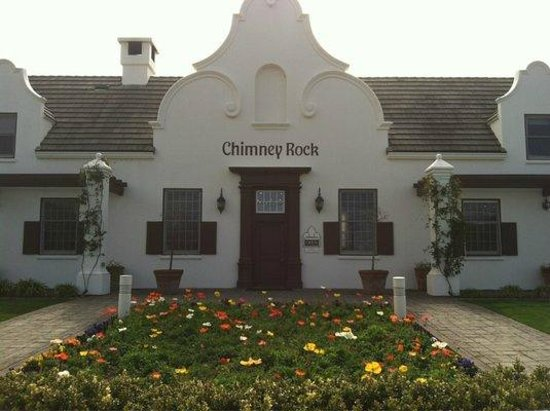 Chimney Rock Winery: Exterior of the tasting room. You'll recognize this iconic building on their wine bottles.