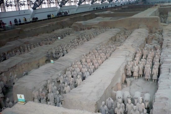 The Museum of Qin Terra-cotta Warriors and Horses: Thousands of full size terracotta soldiers in pits