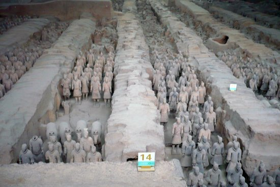 The Museum of Qin Terra-cotta Warriors and Horses: Full size figures reassembled