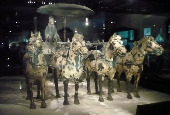 The Museum of Qin Terra-cotta Warriors and Horses: Charioteer, chariot and 4 horses