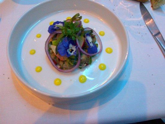 L'Eveil des Sens : bulots asperges et mayonnaise au gingembre