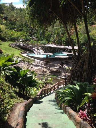 Los Lagos Hotel Spa & Resort: One of the lovely pool areas from the walkway