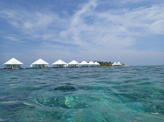 Diamonds Athuruga : Water villas from the ocean