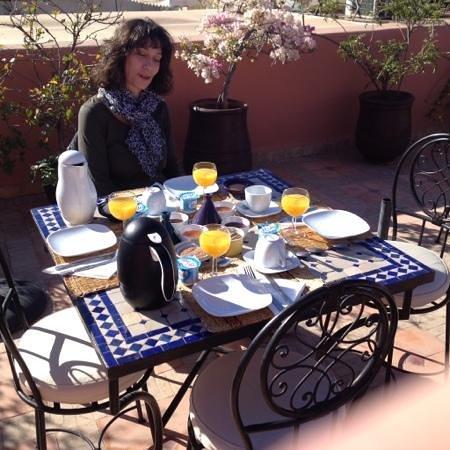 Riad Djemanna : le petit dejeuner
