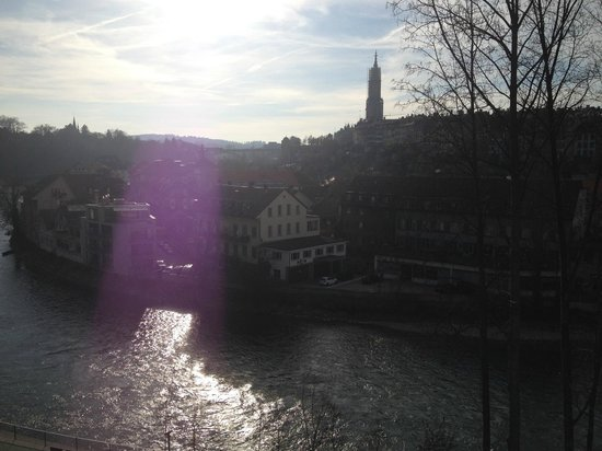 H4 Hotel Solothurn: view from our room