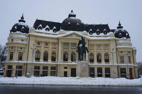 Revolution Square (Piata Revolutiei): The beautiful university library.