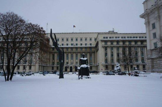 Revolution Square (Piata Revolutiei): Ceaușescu's last speech was from this balcony.