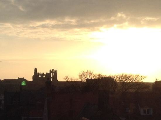 Early morning view of the Abbey from room 2 at The Waverley.