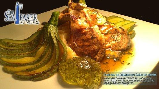 The Seafarer Restaurant: Rack de Cordero en Salsa de Menta