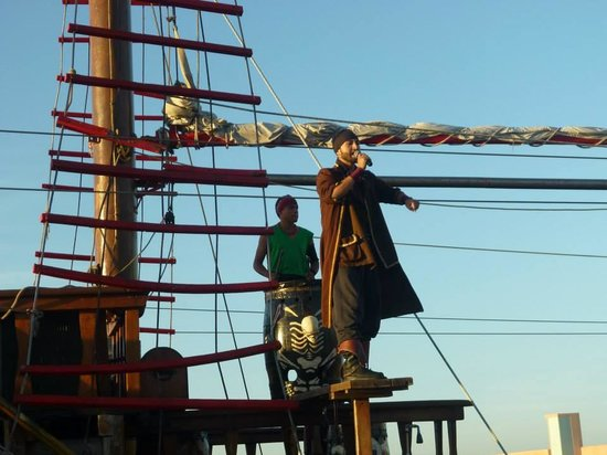 Pirate Ship Vallarta: Performers on the ship
