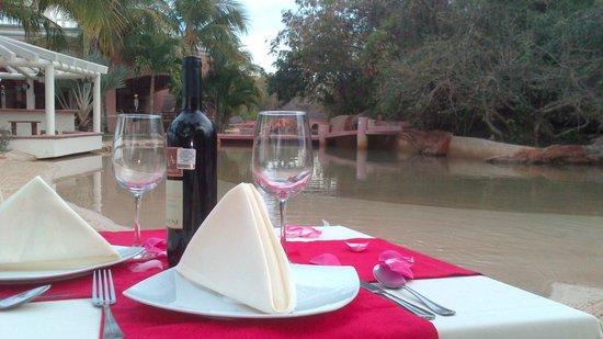 The Seafarer Restaurant: Montaje para cenas románticas
