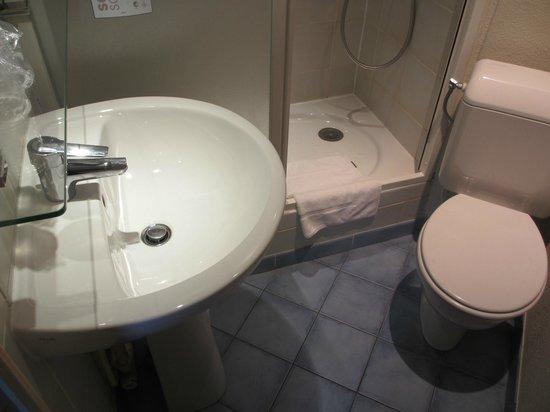 Hôtel Paris Louis Blanc : Shower Room - top floor room