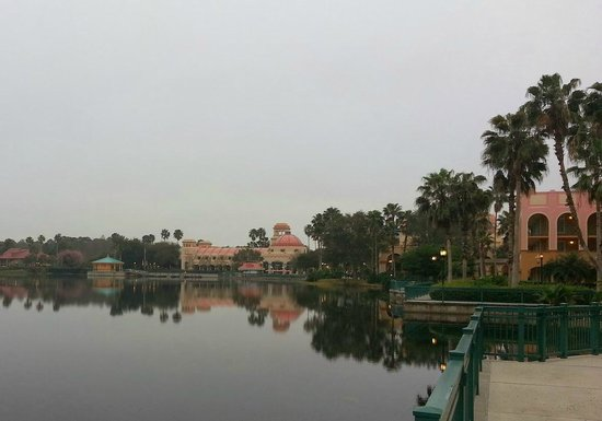 Disney's Coronado Springs Resort: foggy morning