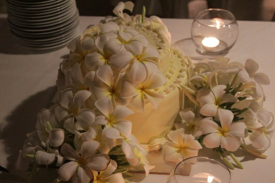 The Frangipani Tree by Edwards Collection: Our wedding cake