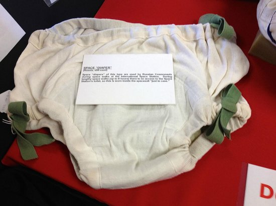 """The Space Station Museum: cosmonaut """"diaper"""""""