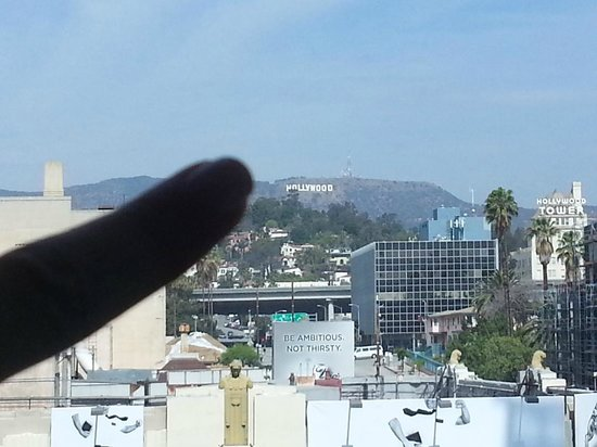 W Hollywood: Hollywood sign