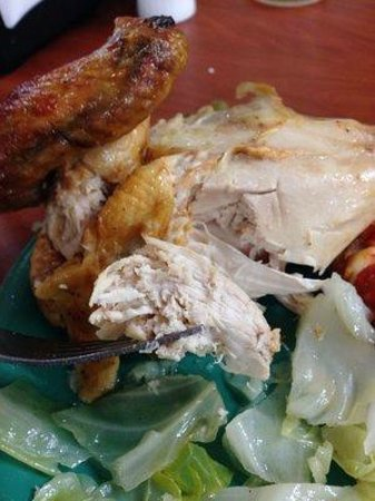 Golden Corral: Roasted chicken. Moist and tasty.