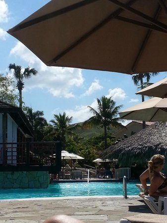 The Tropical at Lifestyle Holidays Vacation Resort : Pool bar, view laying from out on a lounge chair