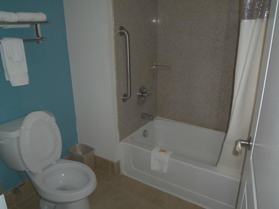 Days Inn Humble/Houston Intercontinental Airport : Tub and toilet with own room