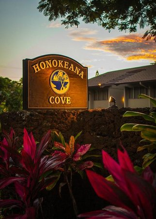 Honokeana Cove Condominiums: Front Sign for Honokeana Cove