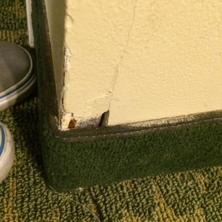 MainStay Suites Pensacola: Holes in the wall