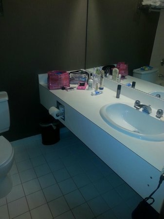 Chateau Lacombe Hotel: outdated bathroom