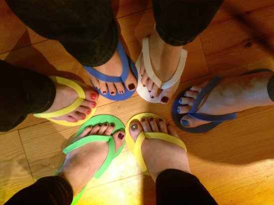The Spa Day Retreat: Our cute pedis!