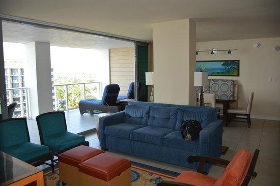 Marriott's Crystal Shores : Living Room