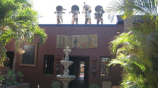 La Coronela : from patio looking back toward hotel