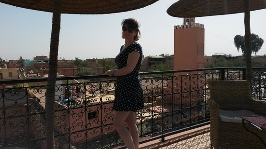 Riad Dar Anika : view from the breakfast terrace