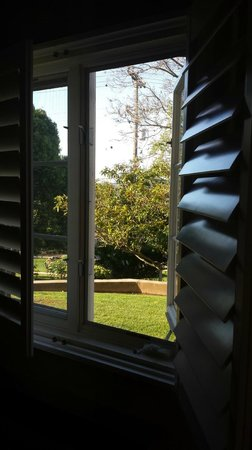 The Inn at Rancho Santa Fe: One of the views from our room through the shutters