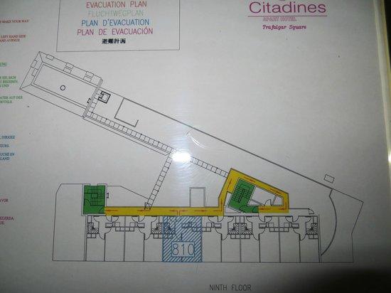Citadines Trafalgar Square London: 9th floor