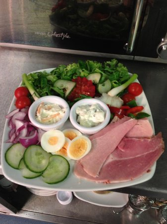 The Albany Hotel on Albert Road : A famous Albany ham salad
