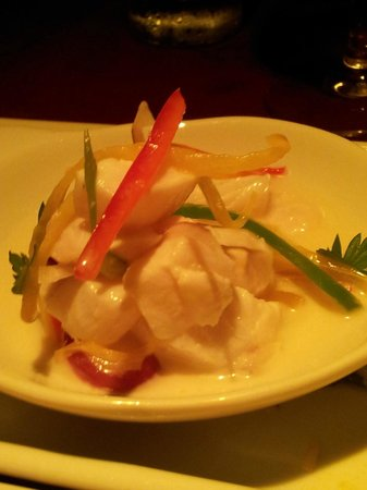 Mistico Sunset Lounge & Restaurant: ...Sea bass Ceviche