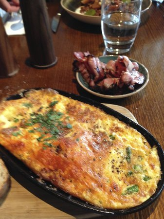 Smolt: My Omelette with Asparagus, Chorizo, Onion & Parsley