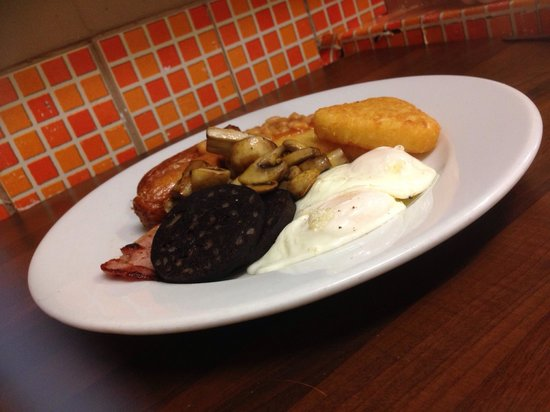 24 Carat Bistro : Traditional English breakfast ! A Great way to start the day .