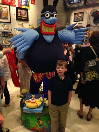 The Beatles - Love - Cirque du Soleil: Blue Meanie from Yellow Submarine at the Beatle's Love Store