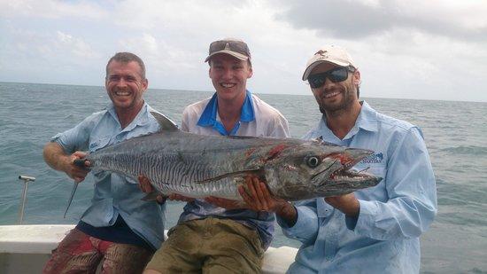 Cairns Reef Fishing: my big Spanish mackerel thanks to cass and dan