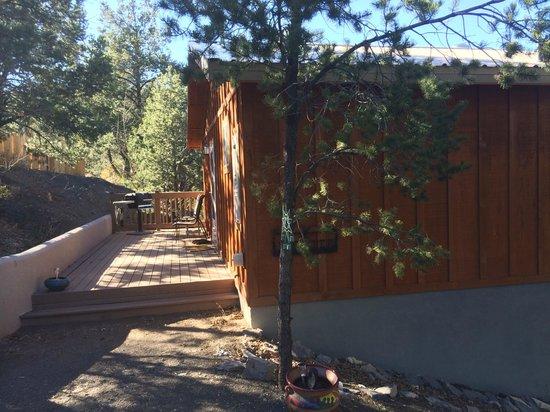 Georgetown Cabins Resort: Lindauer Cabin back patio