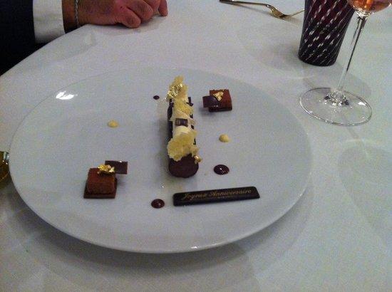 Auberge du Jeu de Paume : Le dessert du restaurant
