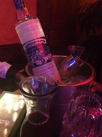 Blue Martini - Fort Lauderdale: Vodka sur la table