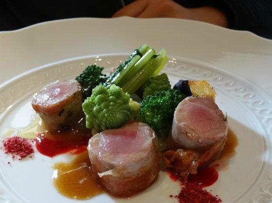 Il Ridotto : Roast suckling pig and Romanesco broccoli