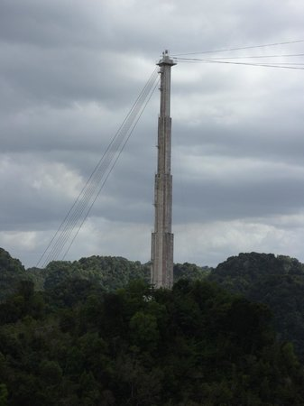 Arecibo Observatory: Stabiliing Tower