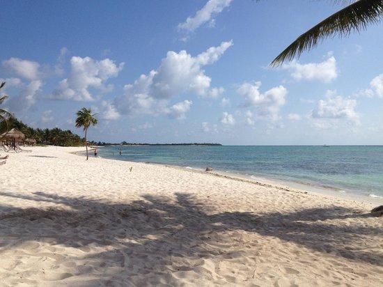 PavoReal Beach Resort Tulum: Spiaggia fronte hotel