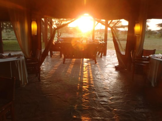Mapito Tented Camp Serengeti: The sun wakes you and everyone else all tents face the sunrise