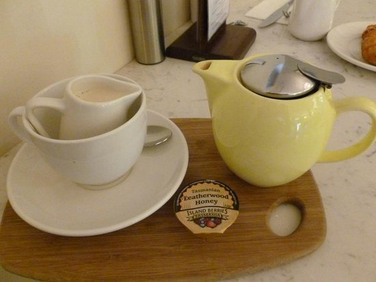 Mantra Collins Hotel : Chai tea latte with soy milk and honey